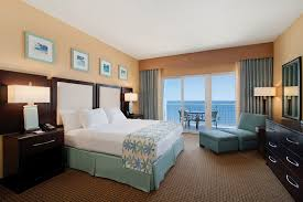 Bedroom Bed In Corner Jacuzzi Suites In Ocean City Md Hilton Ocean City Oceanfront Suites