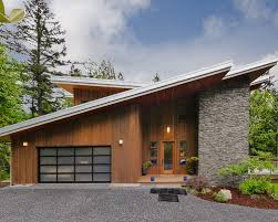 Modern Two Storey House With Streamline Roof by Sloped Roof Front Elevation Houzz