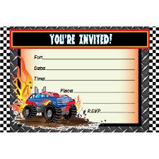 monster truck birthday invitations marialonghi