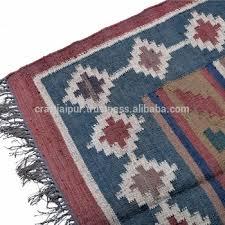 Wool Indian Rugs Cjad 24b 4 X 6 Feet Throws Indian Rugs Handmade Wool Jute Dhurrie