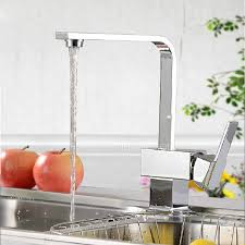 modern faucets kitchen modern square shaped kitchen faucet single side handle