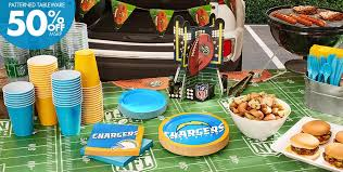 party supplies san diego nfl los angeles chargers party supplies party city