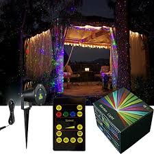 Backyard Projector Tepoinn Landscape Spotlights Christmas Laser Light Outdoor Moving
