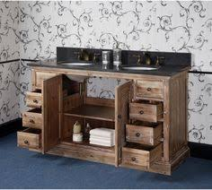 60 Bathroom Vanity Double Sink by Abel 60 Inch Rustic Double Sink Bathroom Vanity Natural Oak Finish