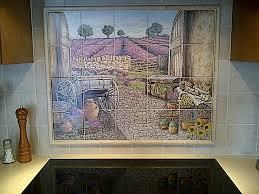 kitchen tile murals tile backsplashes kittle s lavender field view backsplash tile mural