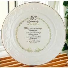 50th anniversary plate personalized lovely gifts for golden anniversary best 50th wedding