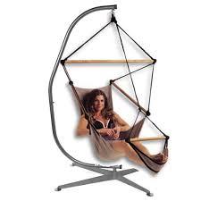 shaped hammock chair stand black