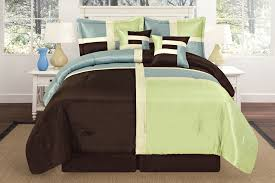 Blue And Brown Bedroom Set Luxurious Quilted Sage Green Aqua Blue Brown Patchwork