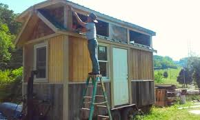 incredible tiny homes he built this tiny house with his bare hands what he hung above the