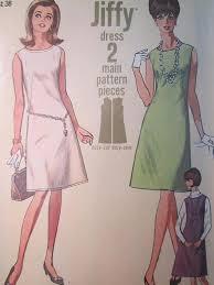 pattern a line shift dress simplicity 6541 vintage 1960 s sleeveless shift dress pattern