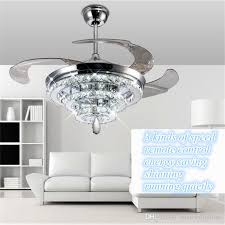 Ceiling Fan And Chandelier 2017 Led Crystal Chandelier Fan Lights Invisible Fan Crystal