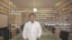 MA Creative Writing  Bath Spa University