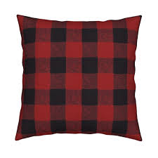 Buffalo Home Decor Buffalo Check Red Flannel Fabric Willowlanetextiles Spoonflower