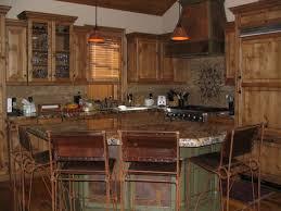 Knotty Kitchen Cabinets Oak Wood Ginger Amesbury Door Knotty Alder Kitchen Cabinets