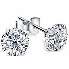 real diamond earrings shop real diamond earrings on wanelo