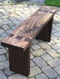 Outdoor Wooden Bench Plans by Tapered Seat Bench Plans Outdoor Furniture Plans U0026 Projects