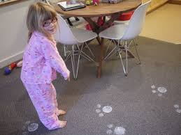 little hiccups sparkly easter bunny footprints