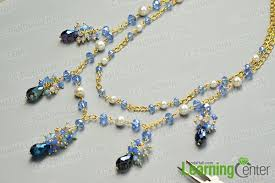 handmade chain necklace images How to make pretty handmade glass beads chain necklace jpg