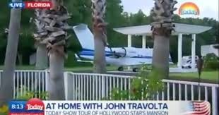 john travolta u0027s house is an airport with runways for private