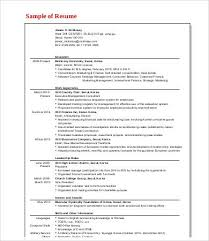 Mckinsey Resume Template Management Consulting Resume 7 Free Word Pdf Documents