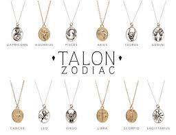 photo necklace pendants images Zodiac pendant necklaces talon jpg