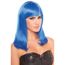 plus size halloween costumes on sale long straight hollywood wig dark blue cosplay halloween costume