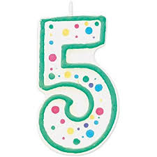 number birthday candles colorful number birthday candle 1 75 inch 5 home