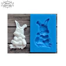 bunny mold bunny silicone mold leafy