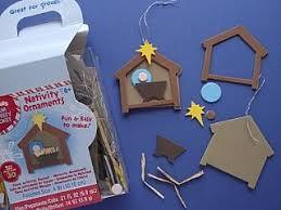 bulk craft kit to make 120 foam nativity ornaments