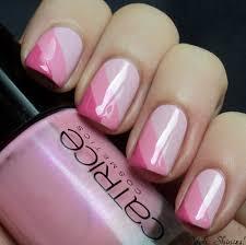 pink striped nail art design