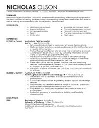 best field technician resume example livecareer