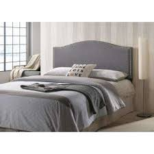 Bed Frames With Headboard Gray Beds Headboards Bedroom Furniture The Home Depot