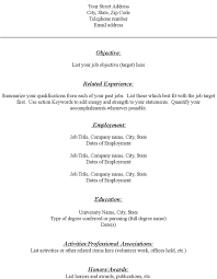 Fill In Resume Templates Blank Resume Fill In The Blank Acting Resume Template Http