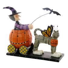 halloween figurine williraye studio halloween driver witch riding in pumpkin