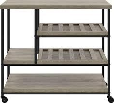 oak kitchen carts and islands amazon com altra elmwood multi purpose rolling cart sonoma oak