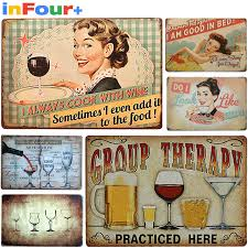 online shop wine shabby chic cars vintage tin sign vintage metal