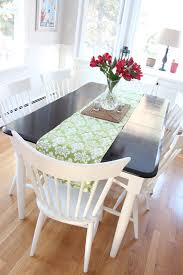 Painting Black Furniture White by A Kitchen Table Makeover Shine Your Light
