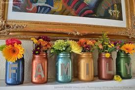 thanksgiving diy lettered metallic jars hometalk