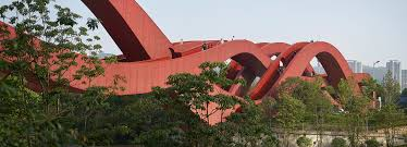 Architect In Chinese Next Architects Completes Red Lucky Knot Bridge In China