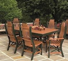 Poly Lumber Patio Furniture Set Including  Rectangular Table - Patio furniture made in usa