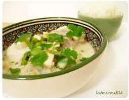 cuisiner la lotte au curry marmite de lotte au curry vert la fourmi elé