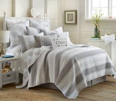 Coastal Bedding Sets Nantucket King Quilt Set Stripe Coastal Home Kitchen