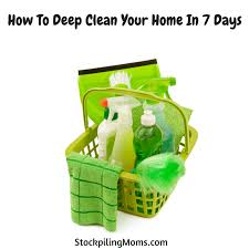 how to deep clean how to deep clean your home in 7 days png