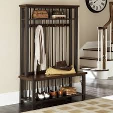 hall tree with shoe storage bench mudroom cabinets coat rack