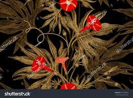 exotic climbing plant ivy vector seamless stock vector 414984664