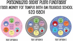 what s on a seder plate temple beth am personalized seder plates