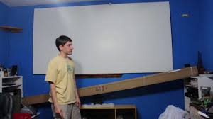 home theater projector screens favi 120 inch projector screen unboxing youtube