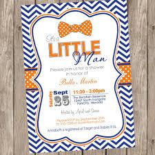 chevron bowtie baby shower invitation bowtie invitation