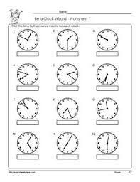 telling time to the nearest minute printable 3rd november