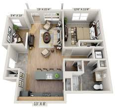 Net Zero Home Plans One Bedroom 3d Floor Plan Net Zero Village